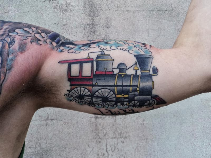 20 freight train tattoos. Black Bedroom Furniture Sets. Home Design Ideas