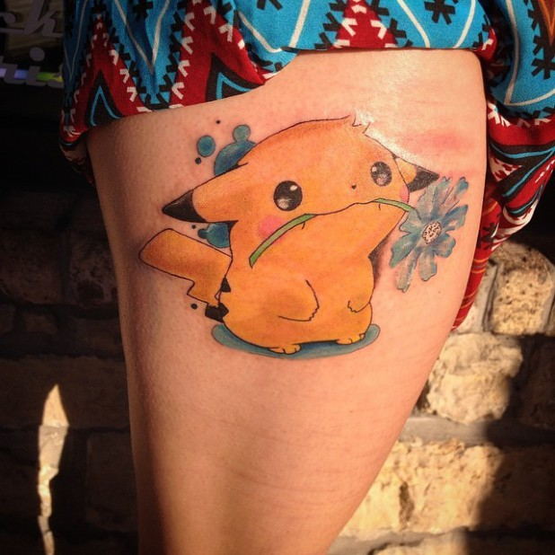 Cute phoenix tattoo design for thigh for Cute side tattoos
