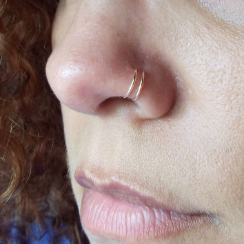 Hoop Rings Double Nose Piercing Picture For Girls