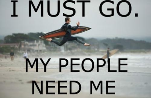 I Must Go My People Need Me Funny Surfing Meme Image 30 most funniest surfing meme pictures and images on the internet,Surf Meme