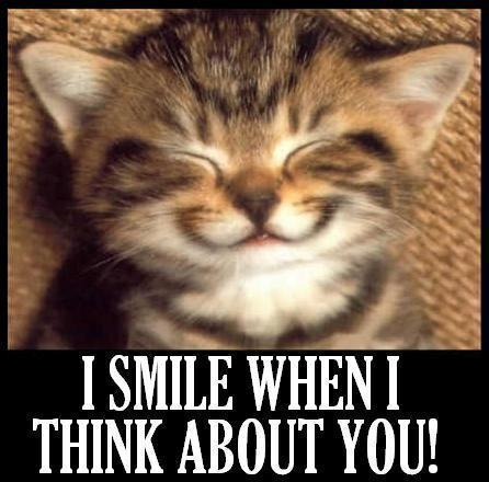 Funny I Think I Love You Quotes : Smile When I Think About You Funny Smile Meme Picture