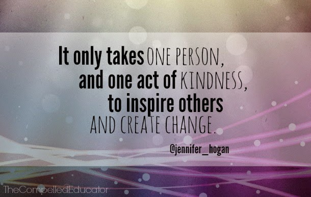 Quotes About Inspiring Others Cool It Only Takes One Person And One Act Of Kindness To Inspire
