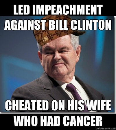 Led Impeachment Against Bill Clinton Funny Bill Clinton Meme Image