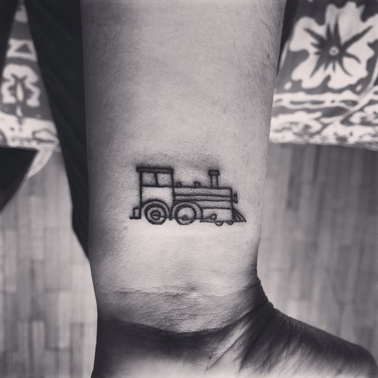 17 simple train tattoo. Black Bedroom Furniture Sets. Home Design Ideas