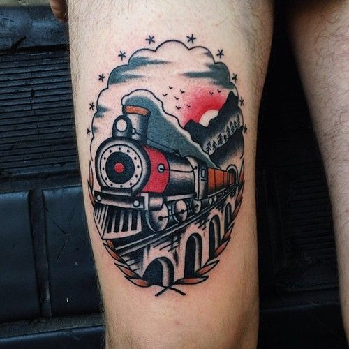 Tomas the train pictures to pin on pinterest tattooskid for Crazy train tattoos