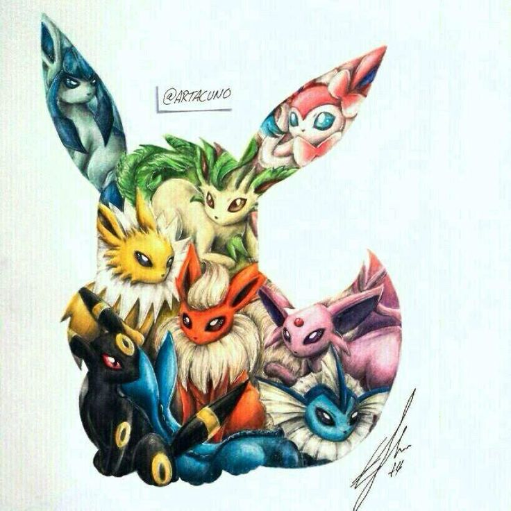 Gallery For gt Pokemon Tattoos Eevee