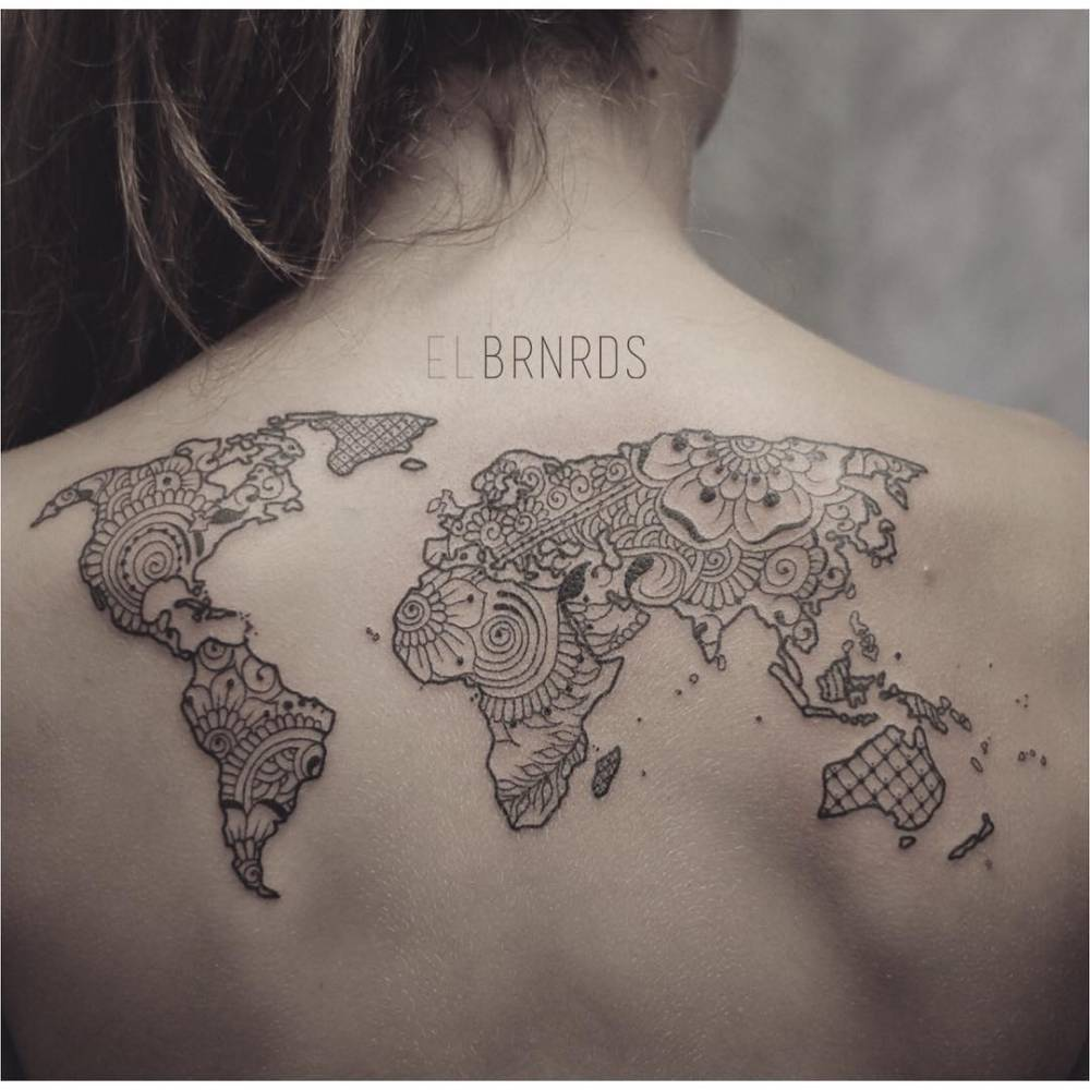 1 2 sleeve tattoo world map images for tatouage 1 2 sleeve tattoo world map with 70 beautiful upper back tattoos gumiabroncs Choice Image