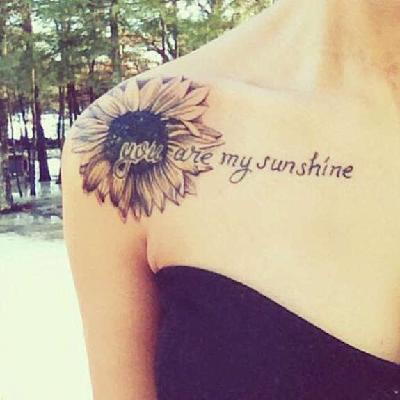 Tattoo Ideas You Are My Sunshine: You Are My Sunshine Sunflower Shoulder Tattoo