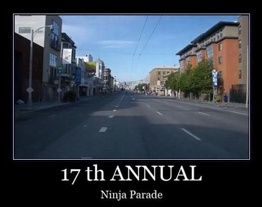 Funny Memes For Friday The Th : Th annual ninja parade funny meme image