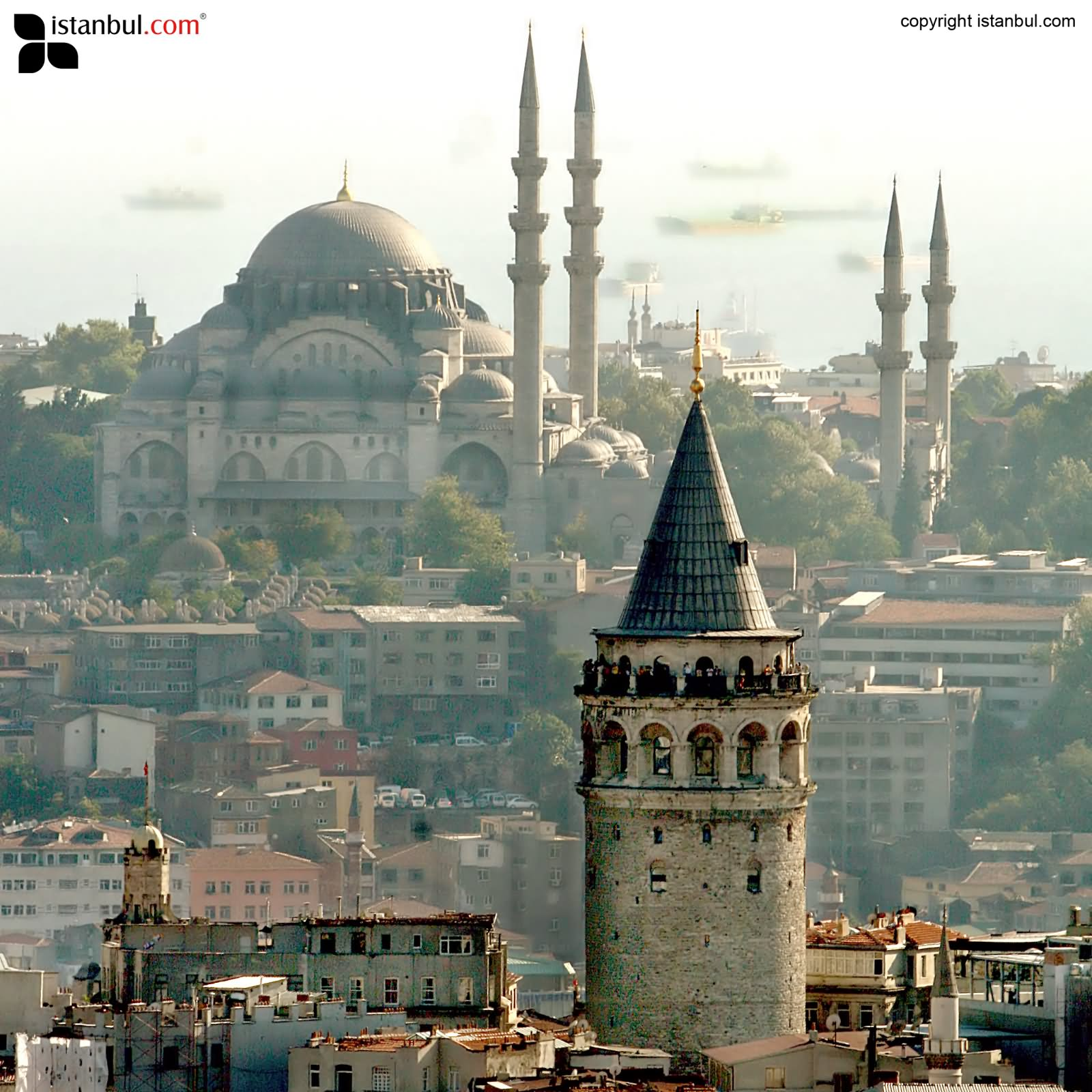 view from the galata tower in istanbul. Black Bedroom Furniture Sets. Home Design Ideas