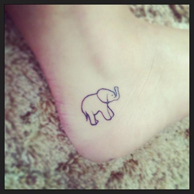 Elephant Tattoo Quotes: 43+ Cute Outline Elephant Tattoos