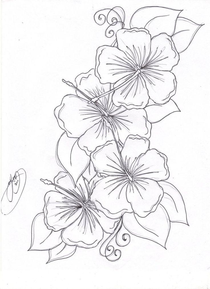 Hibiscus Tattoo Design
