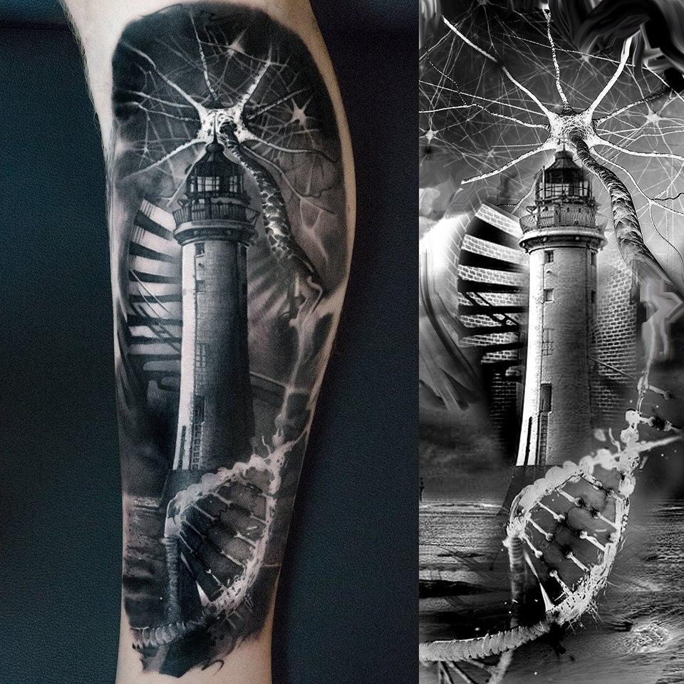 Lighthouse Tattoo: Lighthouse Tattoos