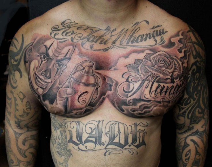 b88eb7def Amazing Rose With Banner Tattoo On Man Chest