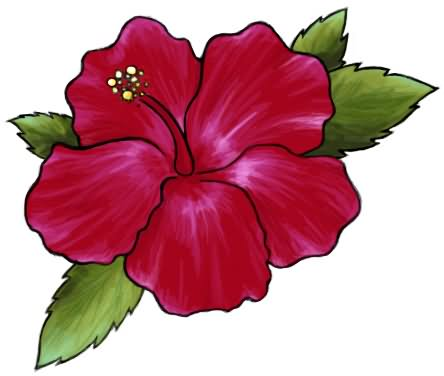 136ad4ff1 Attractive Hibiscus Flower Tattoo Design By Maria