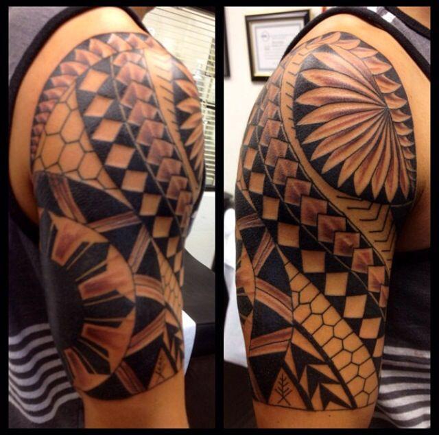 28 tribal half sleeve tattoos. Black Bedroom Furniture Sets. Home Design Ideas