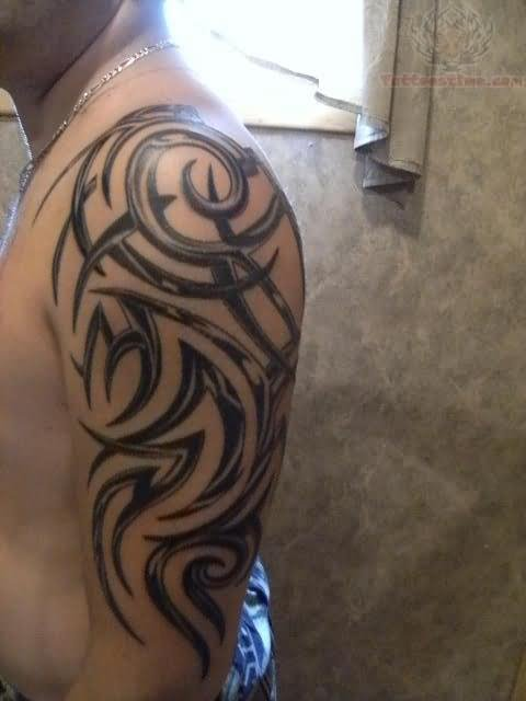 28 tribal half sleeve tattoos for Tribal half sleeve tattoos