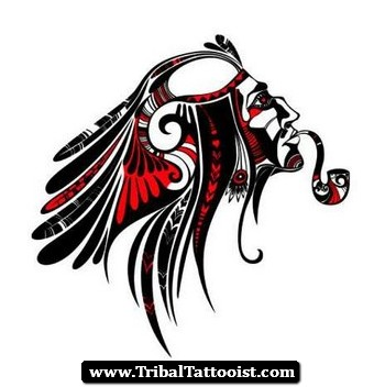 53f666e84ab0f Black And Red Tribal Aquarius Tattoo Design