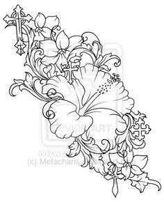 Hibiscus Flower Tattoo Outline | www.pixshark.com - Images ...