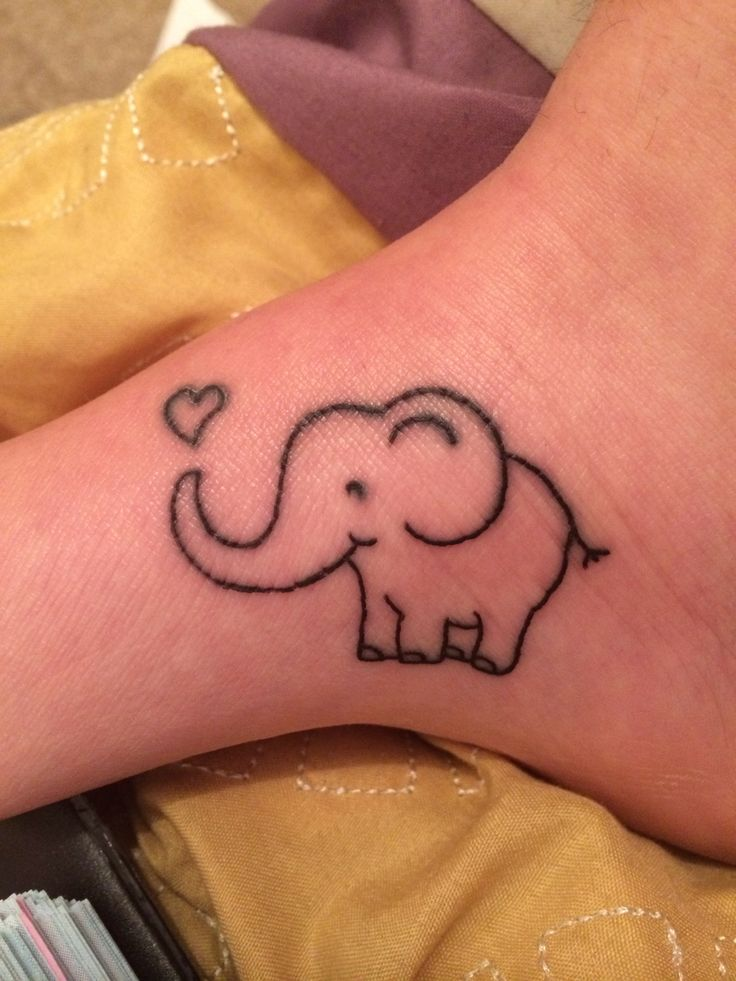 47 best elephant tattoos for Cute baby tattoos