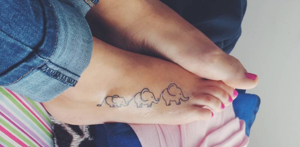 39 elephant family tattoos for Elephant foot tattoo