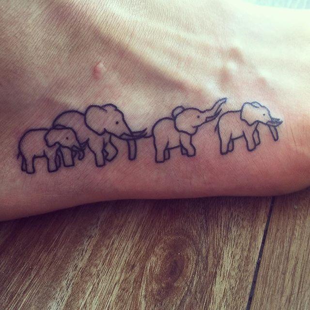39+ Elephant Family Tattoos