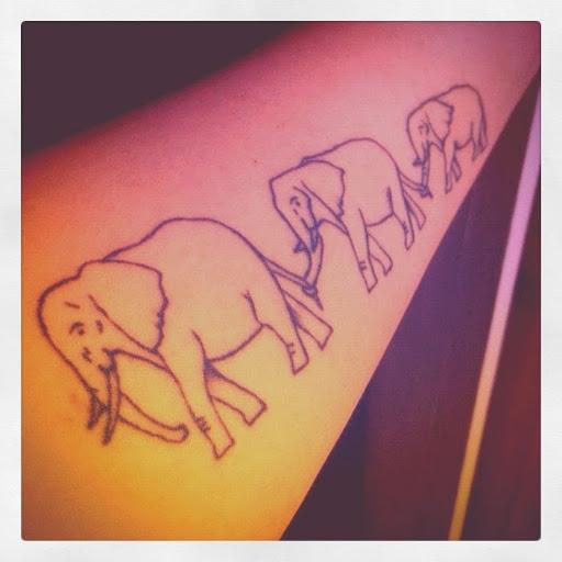 43 cute outline elephant tattoos