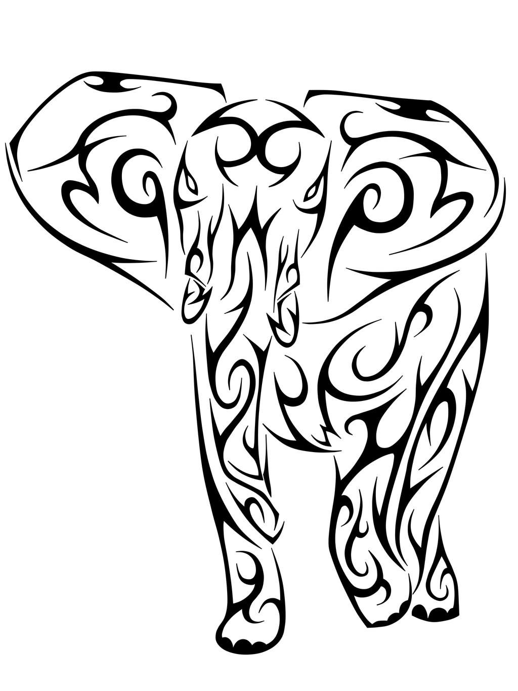 Tattoo Outline: 9+ Elephant Tribal Tattoo Designs And Pictures