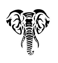 9 elephant tribal tattoo designs and pictures rh askideas com tribal elephant tattoo with flowers tribal elephant tattoo on thigh