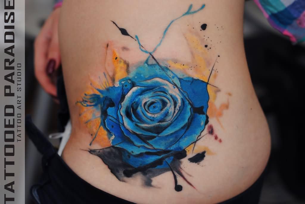 46 beautiful watercolor rose tattoos. Black Bedroom Furniture Sets. Home Design Ideas