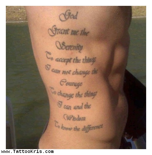 Rib Quotes Tattoos For Guys Quotesgram: 28+ Side Rib Tattoos For Men
