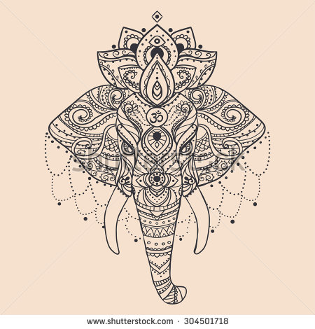 Gallery For gt Indian Elephant Head Design