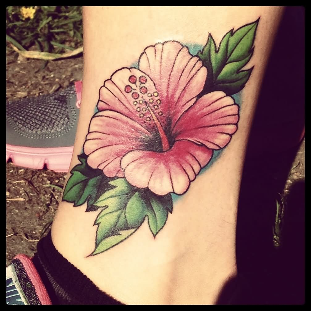 Hibiscus Flower Tattoo On The Back - All Tattoos For-Men