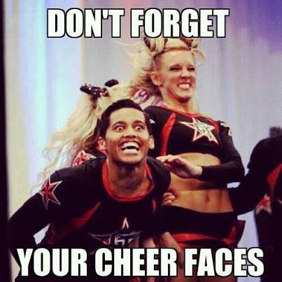 Don't Forget Your Cheer Faces Funny Cheerleading Meme Picture