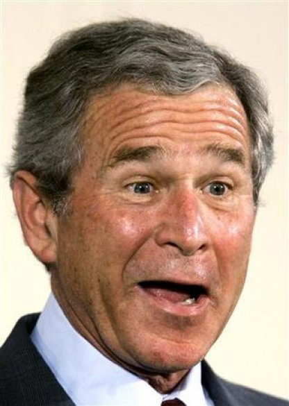 George Bush Funny Face