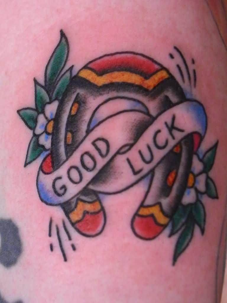 2c7d21f55b5f6 Good Luck Traditional Horseshoe Tattoo