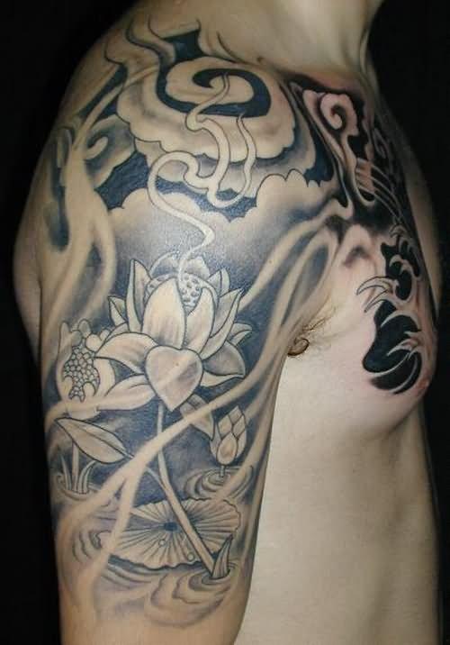Black And White Full Sleeve Tattoo Designs: 32+ Black And Grey Half Sleeve Tattoos