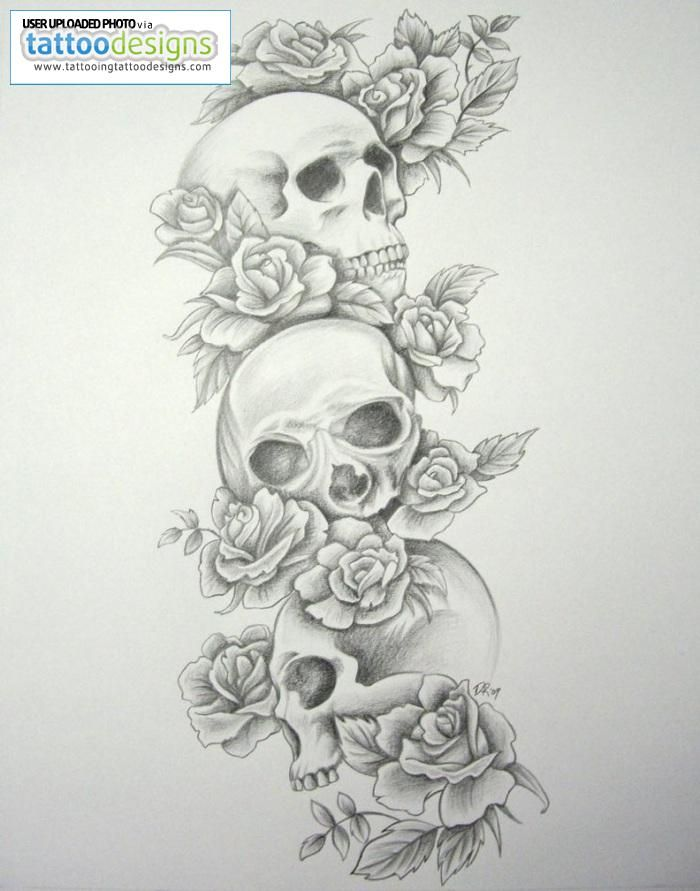 25 Skull Half Sleeve Tattoos