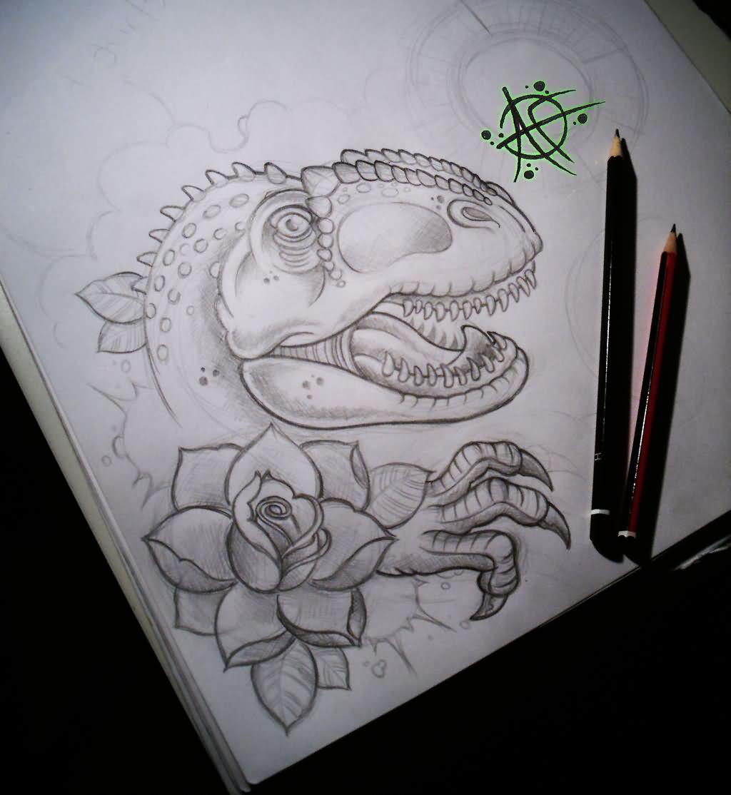 Tattoo Drawings: 45+ Awesome Dinosaur Tattoos