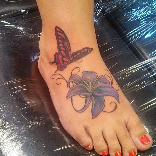 30 Amazing Flower Tattoos On Foot