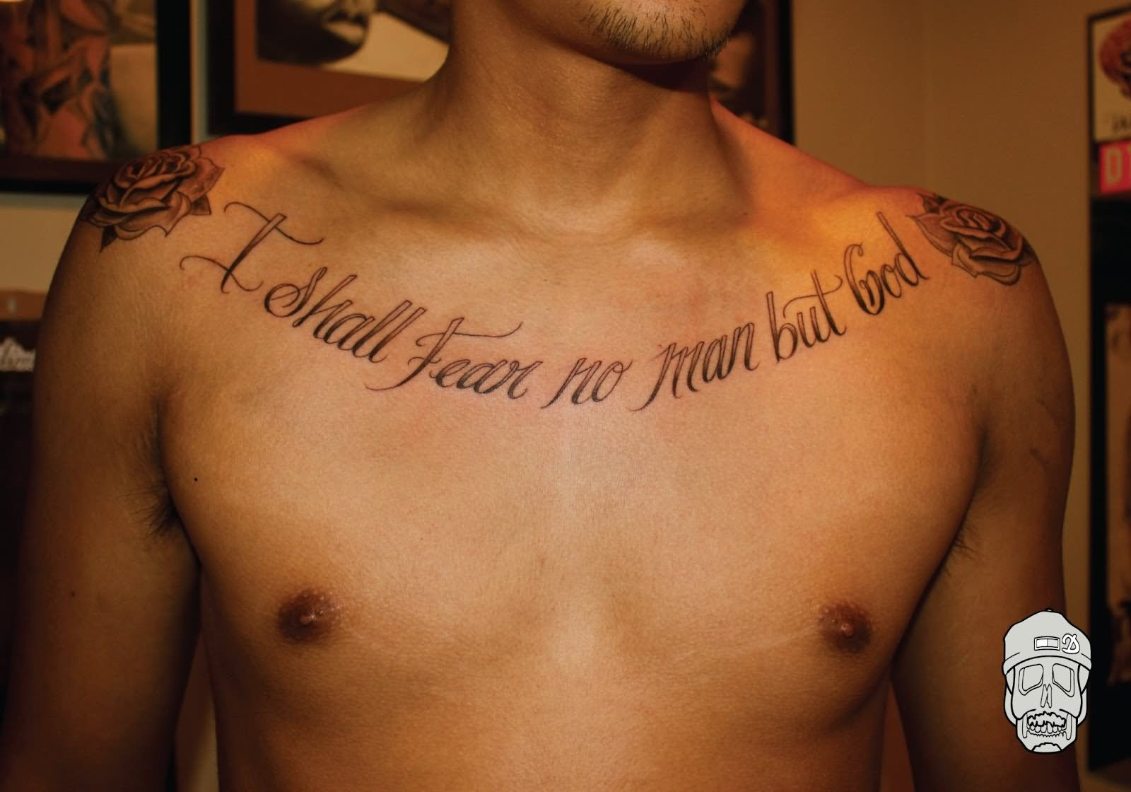 41 quotes tattoos on chest i shall fear no man but god quote tattoo on man chest altavistaventures Images