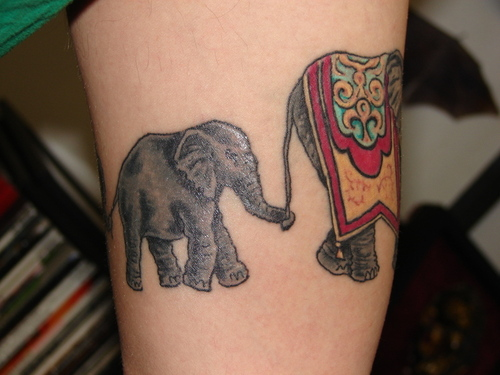 Indian Elephant Tattoo Designs