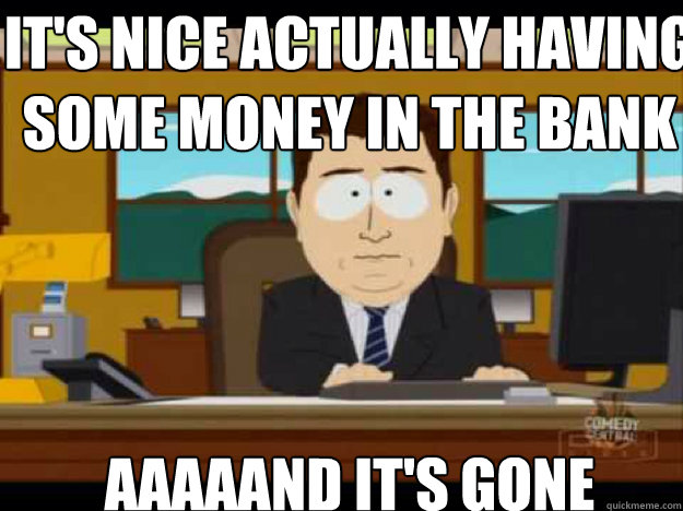 It's Nice Actually Having Some Money In The Bank Funny Money Meme Image