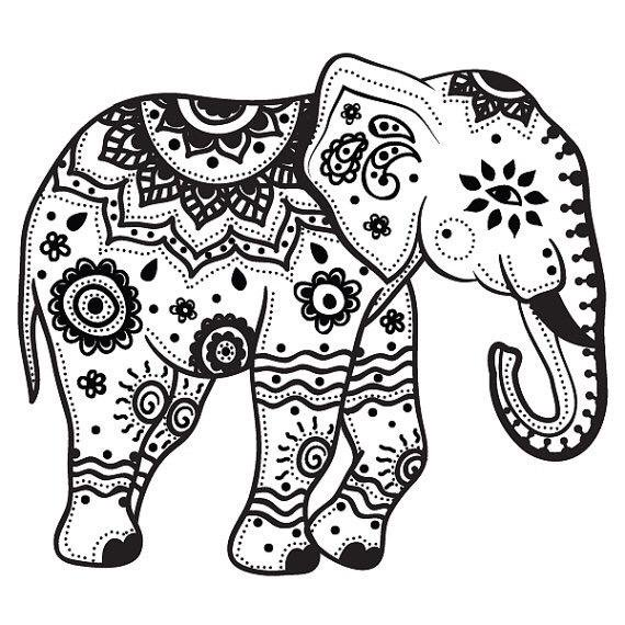 Gallery For gt Tribal Elephant Stencil