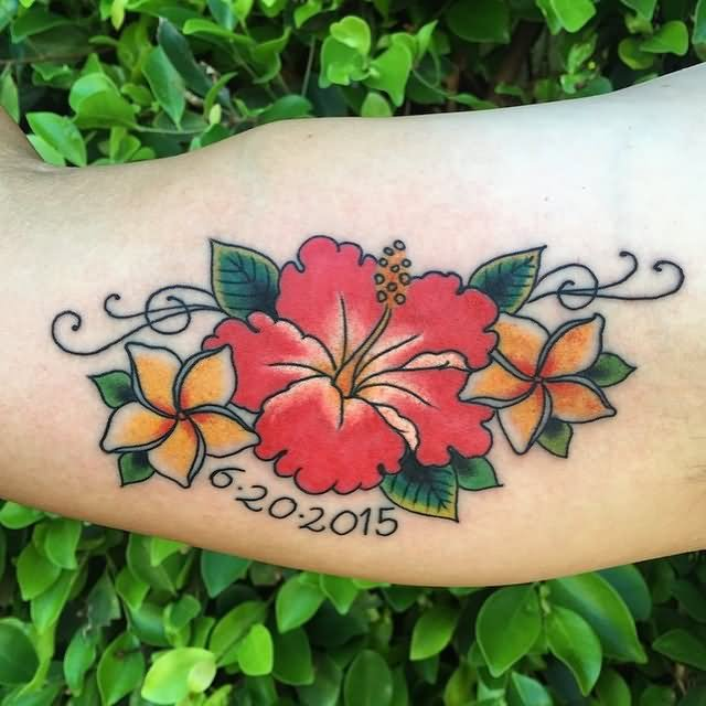 Hibiscus Tattoo: 20 Best Flowers Sleeve Tattoo Design, Images And Pictures