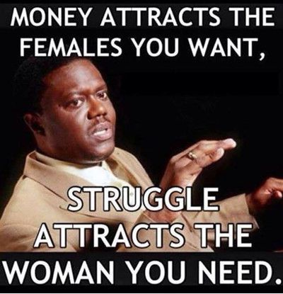 Money Attracts The Females You Want Funny Money Meme Image
