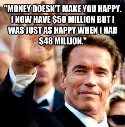 Money Doesn't Make You Happy Funny Money Meme Image