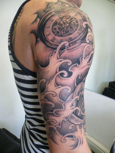 Watch Sleeve Tattoo: 46+ Cool Half Sleeve Tattoos