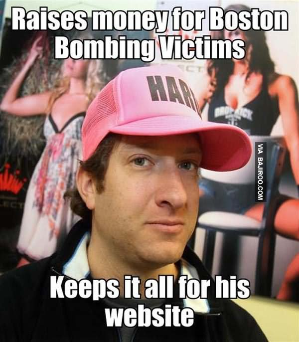 Raise Money For Boston Bombing Victims Funny Money Meme Image
