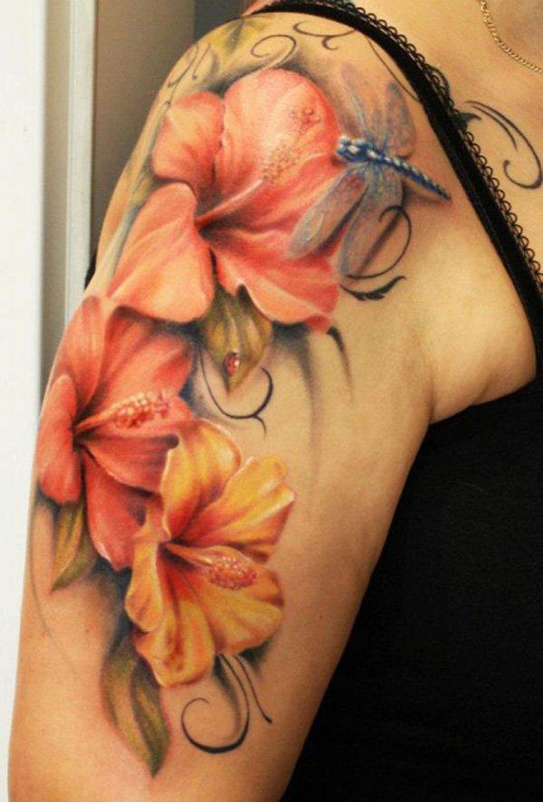 39 Flowers Shoulder Tattoos